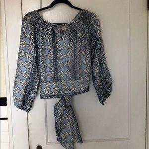 Max Azria Collection Silk Peasant Top